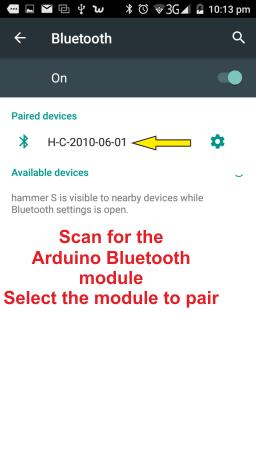 Virtuino - Arduino UNO +Bluetooth HC-05 example