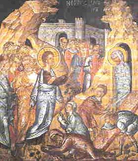 Μ. Αγίου Νικολάου Αναπαυσά. Η ανάσταση του Λαζάρου.
