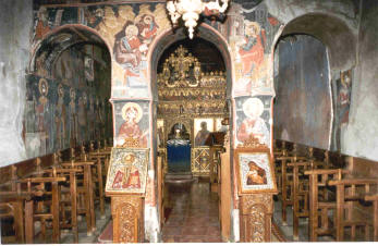 Εσωτερικό ιερού ναού Αγίου Στεφάνου