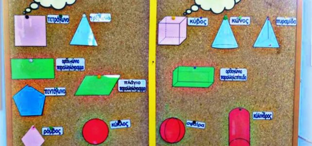 Γεωμετρικά σχήματα – γεωμετρικά στερεά