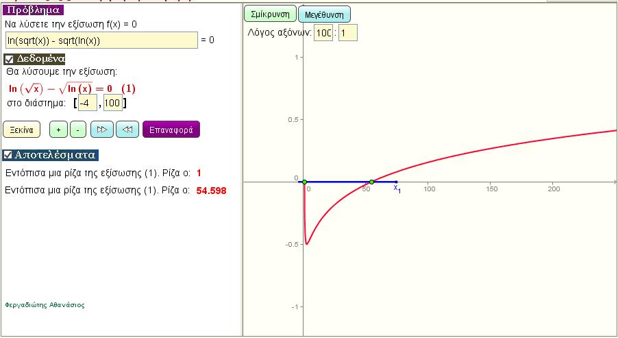 Λύση λογαριθμικής εξίσωσης