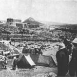 Η Ακρόπολη το 1916. Ο γαλλικός στρατός κατοχής απέναντι στο Ηρώδειον.