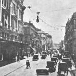 Η οδός Σταδίου γύρω στα 1930.
