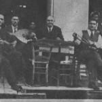 Ανέστης Αρβανιτάκης (βιολί), Μήτσος Αραπάκης (σαντούρι), Αρμένης (ούτι) κι ο Ατραίδης (1935). Πάντα χωρίς μηχανήματα.