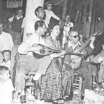 Λευτέρης Γουναρόπουλος, Βιολέττα, Στέλιος Χρυσίνης και Θόδωρος Δερβενιώτης (Κερατιά 1952).