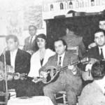 Απ'τ'αριστερά: Στέλιος Καζαντζίδης (δεύτερος), Μαρινέλλα, και Θ.Δερβενιώτης.