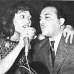 Ο Θ.Δερβενιώτης με τη Μαρινέλα στη Λάρισα, 1955.