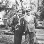 Ο Νταλγκάς με το Φίλανδρο στην πλατεία Κουμουνδούρου (1935).
