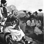Ο πασίγνωστος πίνακας του Von Hess (1828), όπου ο Κολοκοτρόνης δεν στοχάζεται τα πεπρωμένα της φυλής, αλλά ακούει μπουζουκάκι.