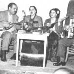 Από τ'αριστερά: Ν.Λογοθέτης, Ρούλα Νοικοκυράκη, Σούλα Τάνα, Ανέστης Πινόκιος (Χίος, 1951).