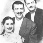 Το τρίο Μητσάκης - Χρυσάφη - Χρηστάκης το 1955.