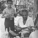 Ο Μουφλουζέλης με το γιό του Σταυράκη.