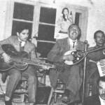 Ο Παπασίκας στη Λάρισα το 1947 σε μια έκτακτη εμφάνιση.