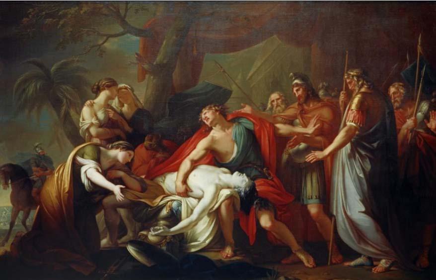 ¿Quién quiere jugar al gatarte? - Página 5 Achilles-Lamenting-the-Death-of-Patroclus,GavinHamilton