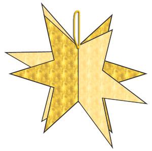 Τρισδιάστατο αστεράκι, κατασκευή απο χαρτί