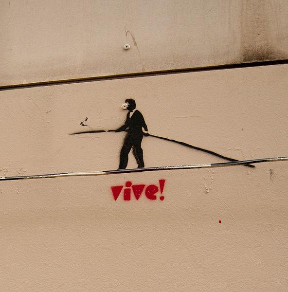 Stencil graffiti