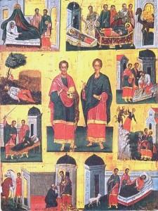 Βυζαντινή αγιογραφία, Αγιοι Ανάργυροι
