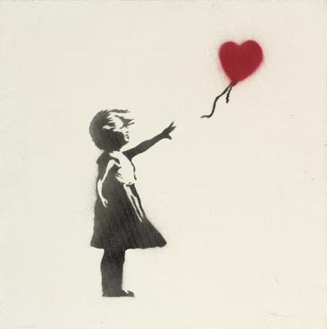 banksy street stencil art