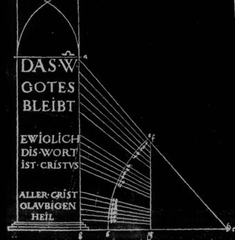 Albrecht Durer σχέδιο γραμμάτων