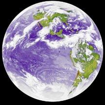 υπέρυθρη φωτογραφία της γης