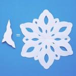 χιονονιφάδες από χαρτί