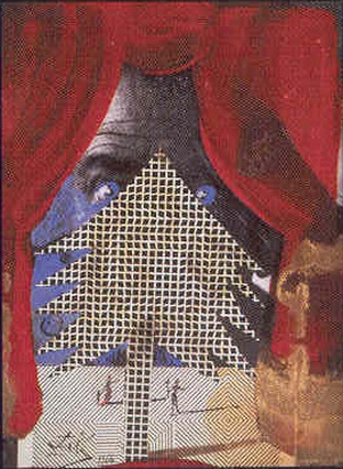 Cuadrícula, Ακρυλικό, κολάζ, μελάνι, μεταλλικό χρώμα (γκλιτερ) κά Dali, 1964