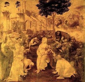Η Προσκύνηση των Μάγων, Leonardo da Vinci, 1481-1482, λάδι σε ξύλο