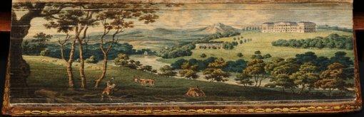 τοπίο ζωγραφισμένο στις άκρες των σελίδων