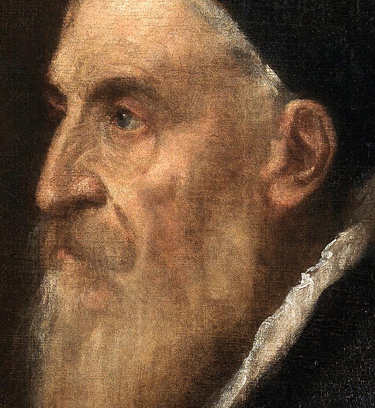 Tiziano Vecellio, 1490 ? 1576 (αυτοπροσωπογραφία, λεπτομέρεια)