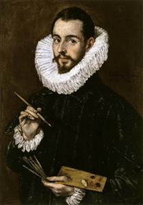 Δ. Θεοτοκόπουλος, πορτραίτο του γιου του, Χόρχε Μανουέλ (Jorge Manuel) - Palacio de San Telmo (Sevilla) 74 x 50.5 cm, λάδι σε καμβά