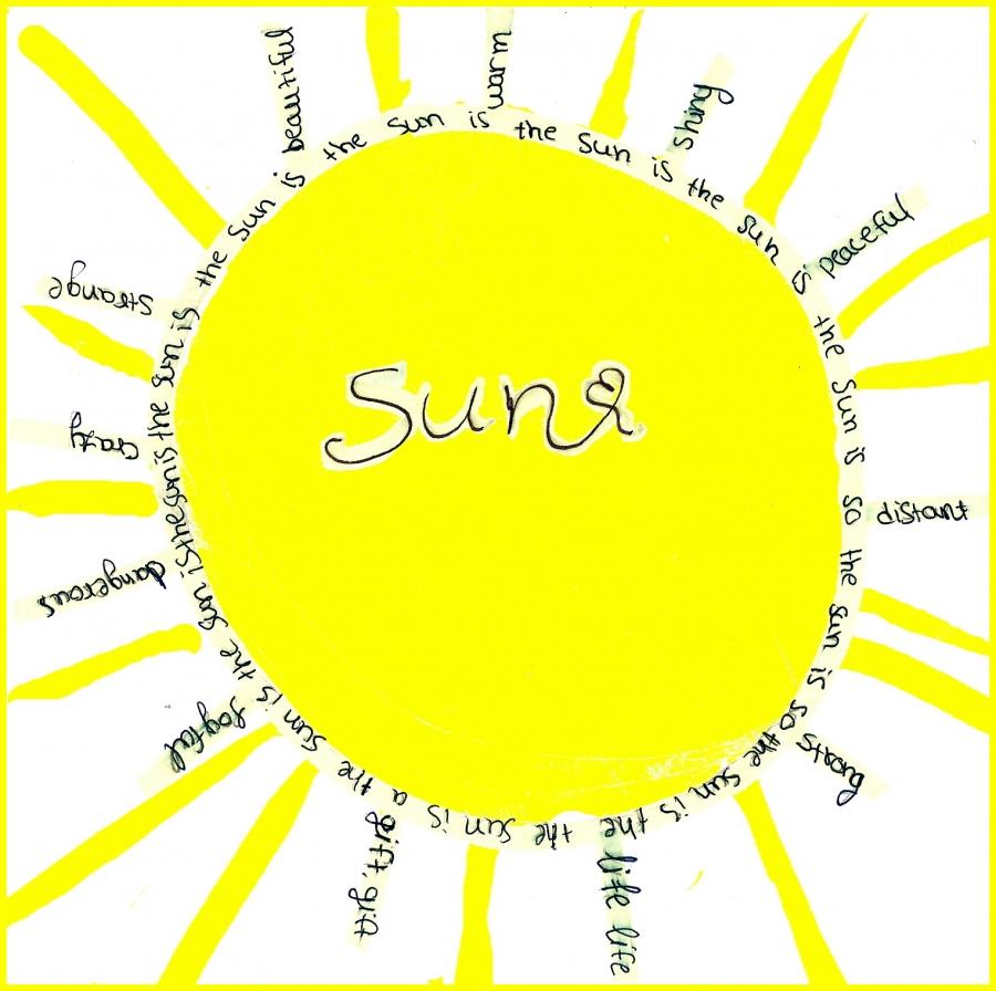 The sun is joyful