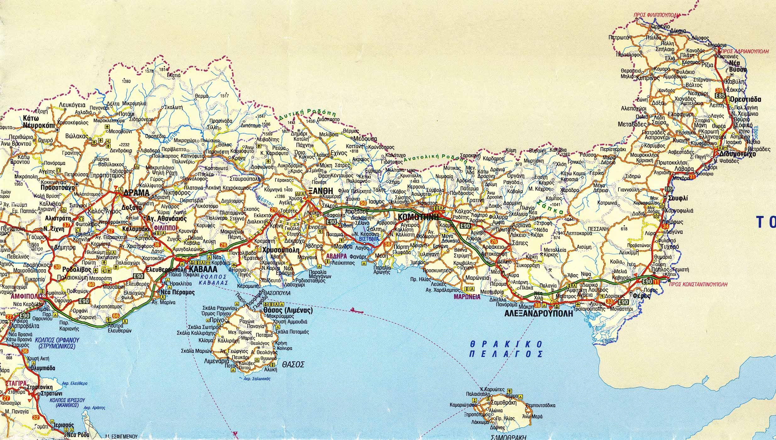 Xarths Perifereias An Makedonias 8rakhs