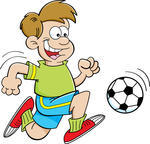 cartoon-illustration-of-a-boy-playing-soccer 144849535